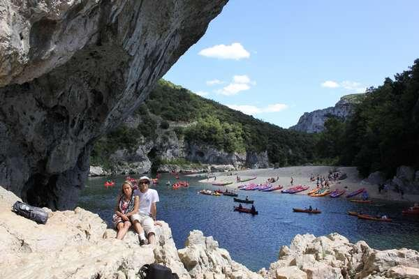 Descente des gorges en canoë / canoe trips down the gorge